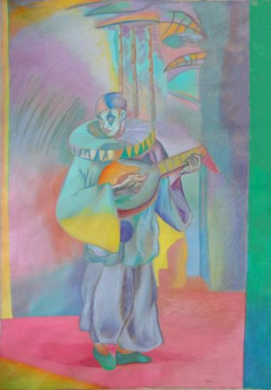 Pierrot avec mandoline 2016