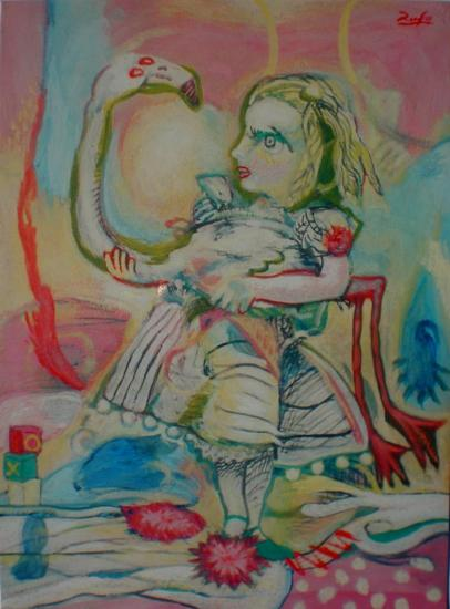 Alice et le flamant rose (Particular collection)